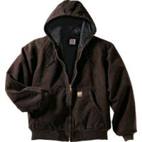 J130 Sandstone Active Jacket/Quilted Flannel Lined Carhartt Mens Coats