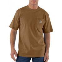 K87BRN Brown Short Sleeve Workwear Pocket T-Shirt Carhartt Mens Shirts