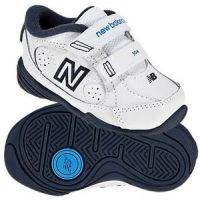 New Balance KV504 White/Navy Leather Velcro Toddler Athletic KV504WNI