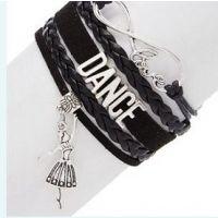 CJ Merchantile Black Infinitiy, Love, Dance, Ballerina Bracelet A-BR31