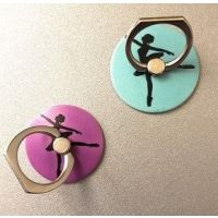 CJ Merchantile Arabesque Ballerina Print Cell Phone Ring/Stand A-G439