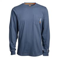 Timberland Pro Vintage Indigo Long Sleeve Mens Base Plate Wicking T-Shirt TB0A1HVN432