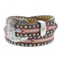 3D Belt Company Angel Ranch 3/4 Inch Multi Color Girls Fashion Belt A5222