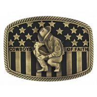 Montana Silversmith Cowboys of Faith Heritage Flag Attitude Buckle A706C