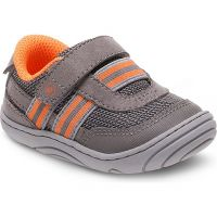 Stride Rite Caden Grey/Orange Baby First Walkers BB55229AC