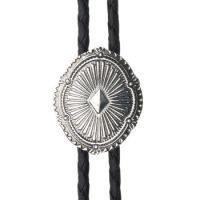 BOL100 Men's Andwest STAMPED NAVAJO Bolo Tie