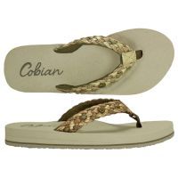 Cobian Gold Braided Bounce Womens Thong Sandals BRB10-GOLD