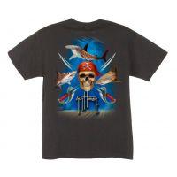 BTH1315 GUY HARVEY Pirate Shark Childrens Shirt
