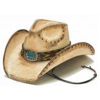 California Hat Company Tea Stain Women's Genuine Panama Straw Western Hat