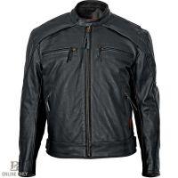Milwaukee Warrior Leather Black Mens Motorcycle Jacket M5254