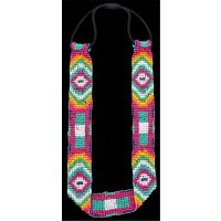 CHB15023 Silver Strike Multi Colored Elastic Headband