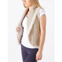 Cripple Creek Tan Women's Crochet Knit Vest CR13948-04