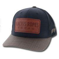 Hooey Black Men's Leather Patch Snapback Hat CRO43