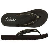 Cobian Black Cartier II Womens Thong Sandals CSB18-BLK