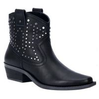 Dingo Dusty Women's Black 6 Inch Leather Ankle Booties DI150