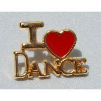 I Heart Pin for Dance Ballet Jazz Tap & Acro J-42