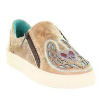 Corral Tan Saddle Heart Wings and Peace Womens Sneakers E1553