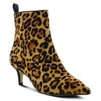 L'Artiste Leopard Print Etty Womens Booties