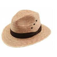 California Hat Company Toast Palm Leaf Fedora Hat FD-880
