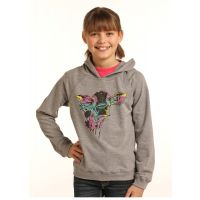 Panhandle Slim Multicolor Girls Cow Graphic Hoodie G4H3318