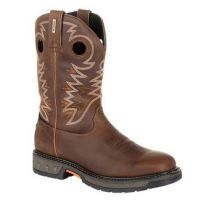 Georgia Boot Men's Medium Brown Carbo-Tec LT Pull-On Work Boot