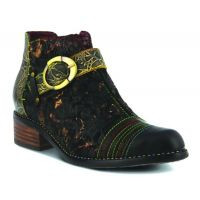 L'Artiste Black Georgiana Womens Short Boots