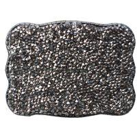 Wallet Buckle Graphite Crystal  Womens Belt Buckle