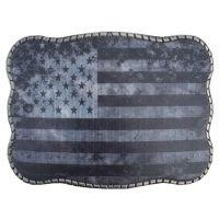 Wallet Buckle Greyscale USA Flag Belt Buckle