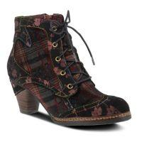 L'Artiste Bordeaux Multi Irena Womens Boots