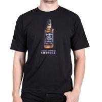 Jack Daniels Short Sleeve Full Color Bottle Black Mens T-Shirt 15261492JD-89