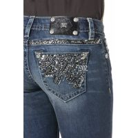 Miss Me Jeans Denim Flash & Sparkle Boot Cut Womens Jeans JP7631B