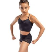 So Danca Child's Bordeaux High Waisted Dance Shorts L-1833