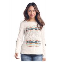 Panhandle Slim White Label Womens Long Sleeve Top L8T-3663