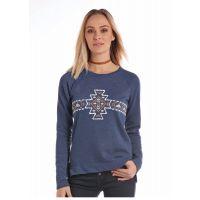 Panhandle Slim White Label Blue Long Sleeve Womens Shirt L8T2884