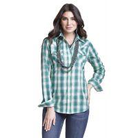 Wrangler Turquoise Western Fashion Long Sleeve Shirt LW8040M