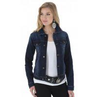 Wrangler Dark Denim Western Fashion Womens Jacket LWL370D