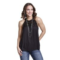Wrangler Black Crochet/Knit Womens Fashion Tank Top LWK510M