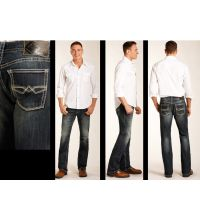 Rock and Roll Cowboy Reflex Pistol Straight Leg Mens Jeans M1P3477