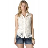 Miss Me Laced Up Womens Sleeveless Top MDT680T