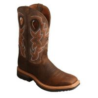 Twisted X Taupe/Bomber Men's Alloy Toe Lite Western Work Boot MLCA001