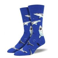 SockSmith Men's Blue Shark Chums Socks MNC1698