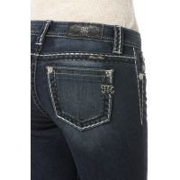 Miss Me Jeans Wicked Stitch Mid-Rise Denim Womens Skinny Jeans MS5012S8