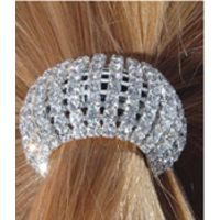 N-170HA-CLR 8 Row Clear Rhinestone Flex Pony-O