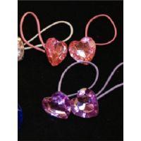 N-212 Heart Shaped Jeweled Tap Ties