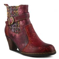 L'Artiste Bordeaux Multi Nancies Womens Booties