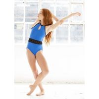 Oh La La Royal Blue Chain Reaction Childrens Leotard OLL156