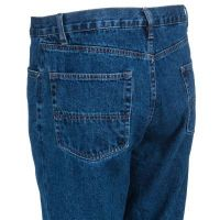 Berne Stone Wash Dark Blue Relaxed Fit Mens Jeans P422-SWD
