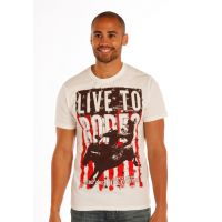Rock N Roll from Panhandle Short Sleeve T-Shirt White with Graphic P9-1666