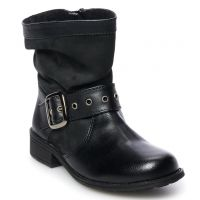 Rachel Shoes Black Parker Girls Slouchy Boots PARKER-BLK