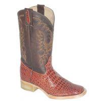 Cowtown Boots Cognac Alligator Print Men's Cowboy Boot 6097